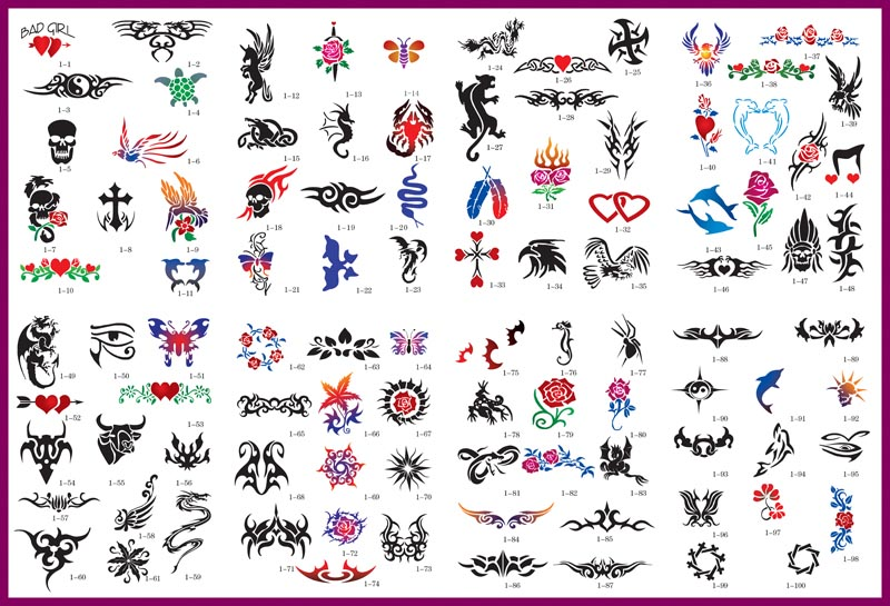 Usually we have over 400 tattoo designs on display.
